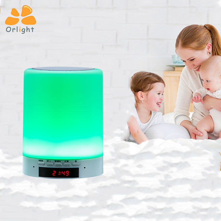 Multi Color Changeable Bluetooth Mini Audio Speaker Music Children Night Light With Touch Sensor