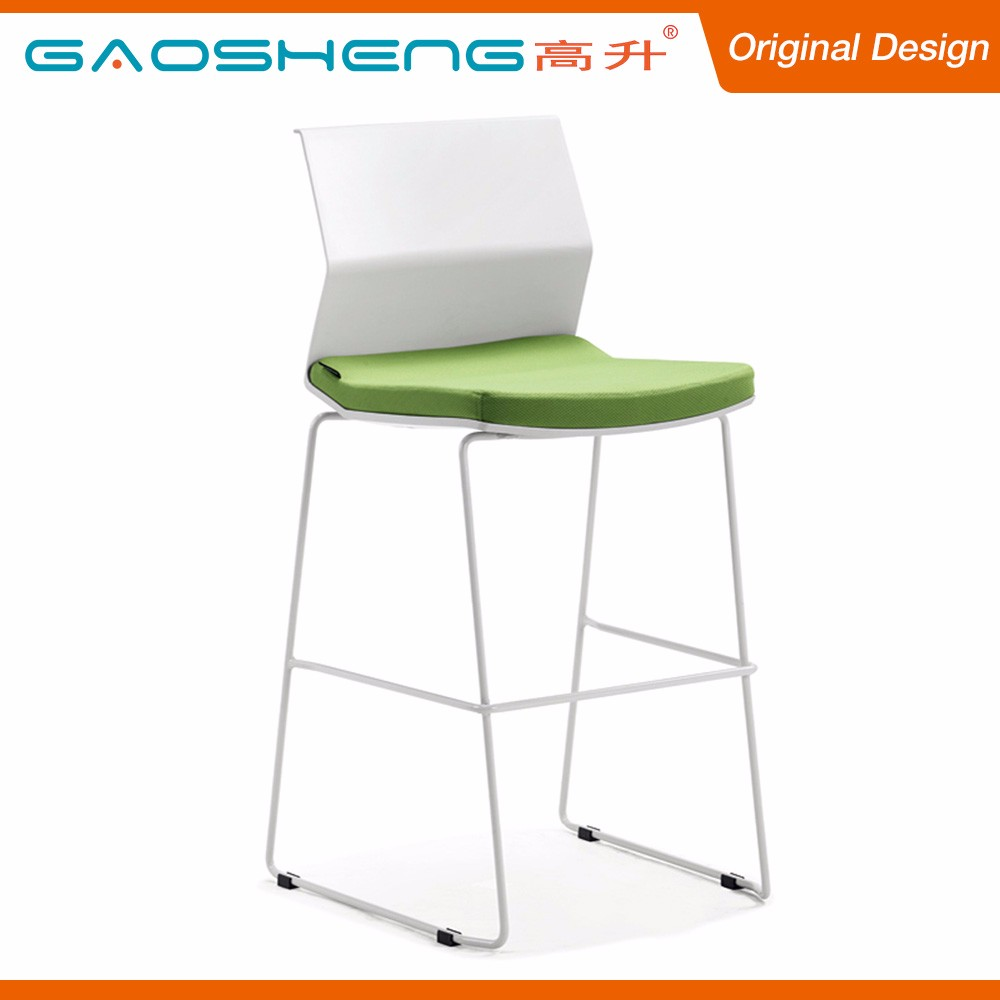 Top Grade Industrial Fabric Cushion Metal Legs Bar Stool Chair