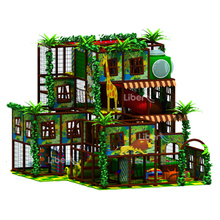 Four Layer Wildwood Rain Forest Style Indoor Play House Playground with Animal Giraffe and Lion from Zhejiang Experience Factory