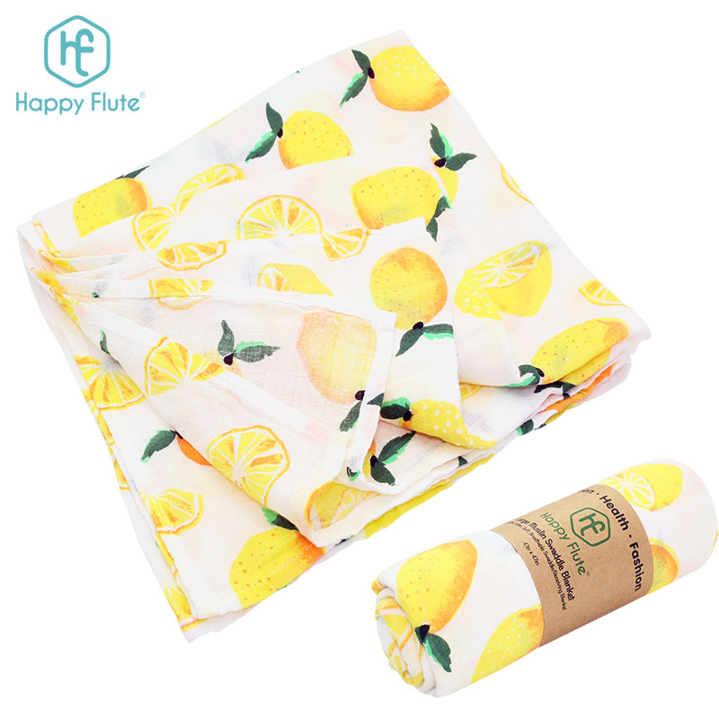 hot sale baby muslin swaddle blanket bamboo cotton newest print free sample
