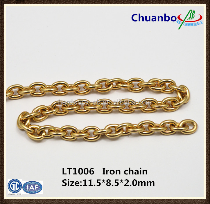 Gold handbag hardware metal chain jewelry accessories chains