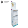 Retail promotion cardboard floor display stand, carton display shelf, paper display rack