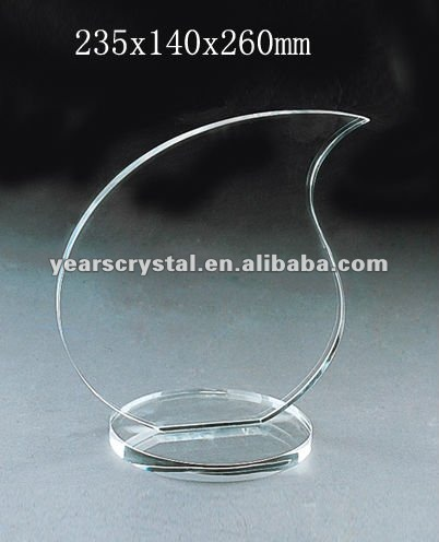 Grade A crystal blank block with engraved for crystal trophy and award (R-0355)