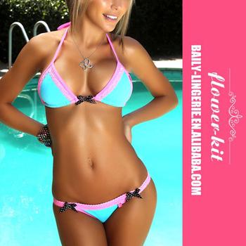 Hot Selling Women Popular Summer Blue Swimming-pool Shiny Silk ...