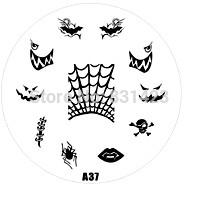 2015 new A Series A37 Nail Art Polish DIY Stamping Plates Image Templates Nail Stamp Stencil