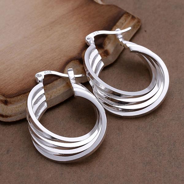 Серьги 925 серебро серьги 925 серебро ювелирные изделия четвертое бухта серьги qeww LE157