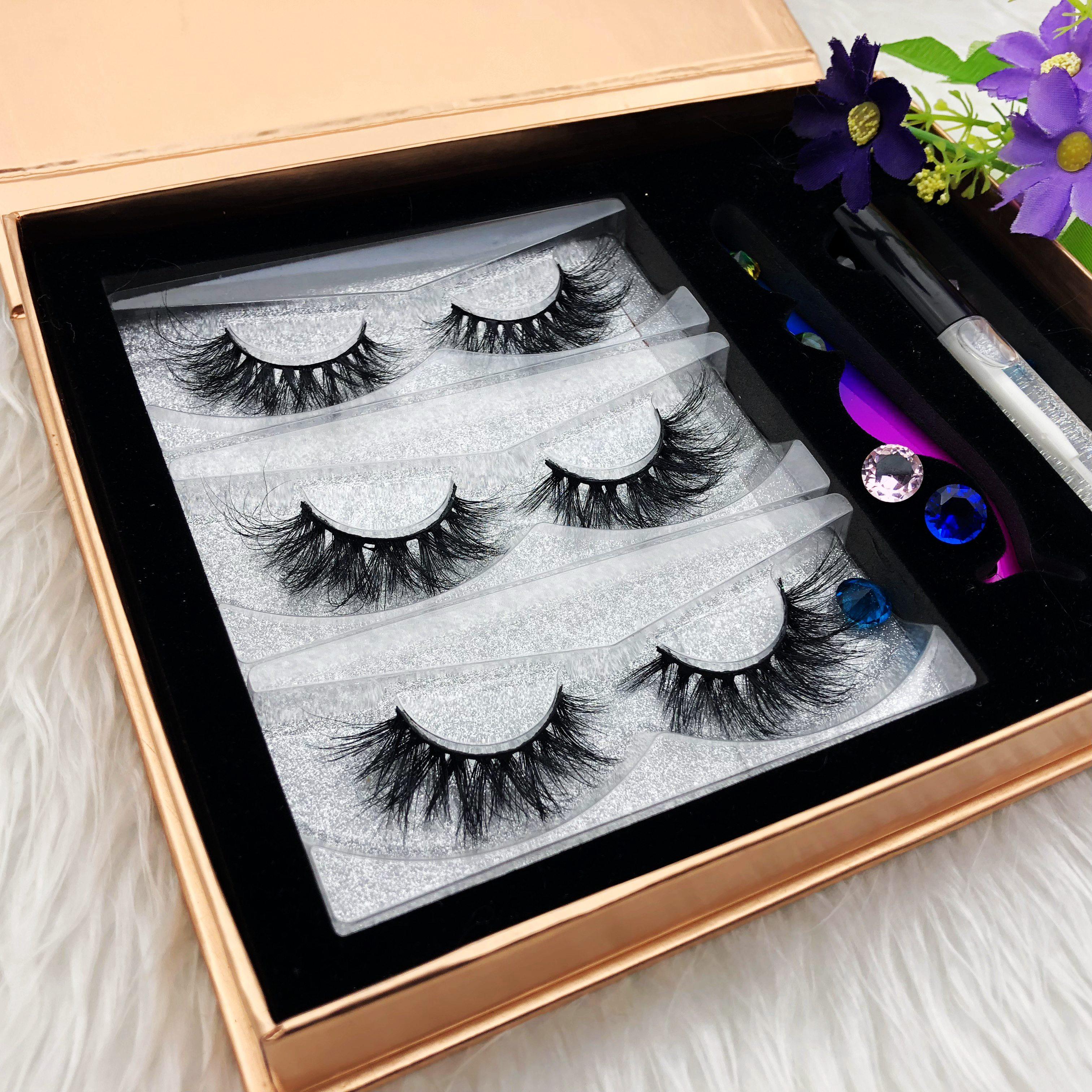 glue lash extentionlash mink extention Lshes 5d mink eyelashes eyelash packaging rose gold strip eye lash case, Natural black