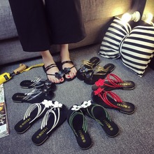 Cheap Top Quality Flip Flops Rubber Slippers Bohemian Style Flower Slipper Sandals Slippers