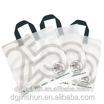 Free Samples handle biodegradable plastic carry bags with Shopping Die cut bag
