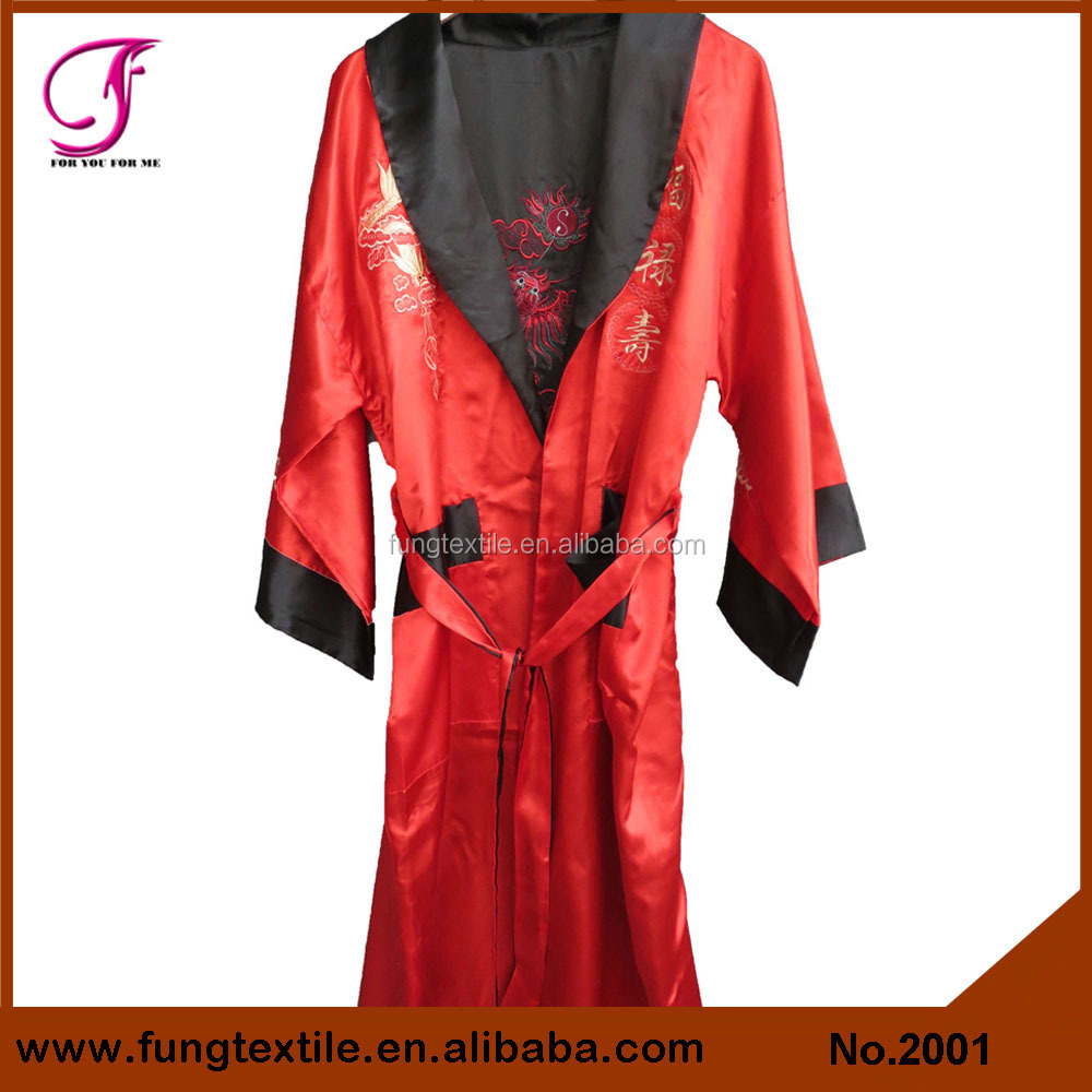2001 Chinese Dragon Embroidered Silk Robe for man Man