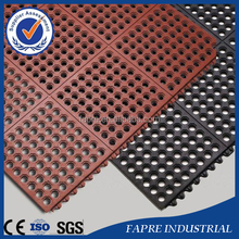 anti slip rubber mat with drainage hole rubber pad