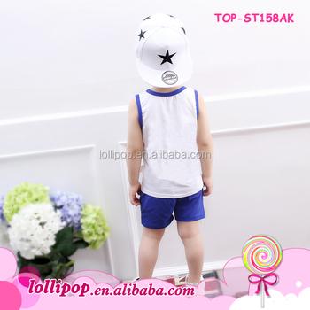 China Wholesale Children S Boutique Plain Pajamas Clothing Sets