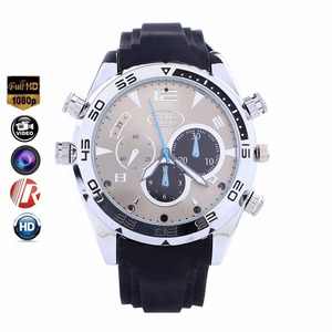 Factory Direct sell Black Spy Smart HD 1080P IR hidden Camera Watch With Camera