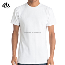 Mens regular fit 100% baumwolle plain white t shirt kurzarm crewneck männer leere <span class=keywords><strong>t-shirt</strong></span>