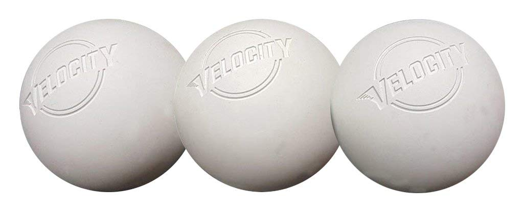 Velocity 3 Pack Massage Lacrosse Balls for Adults & Kids: Official Size for Professional, College & High School. NOCSAE, NCAA, NFHS Certified. Colors: Yellow, Orange & White.