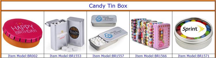 Custom Square Metal Tin Can English Afternoon Tea Tin Box