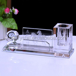 Handmade School Supplies Crystal Table Pen Holder