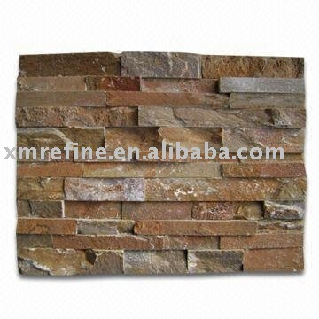 Chinese natural golden quartzite stacking stone / wall panel / wall stacking