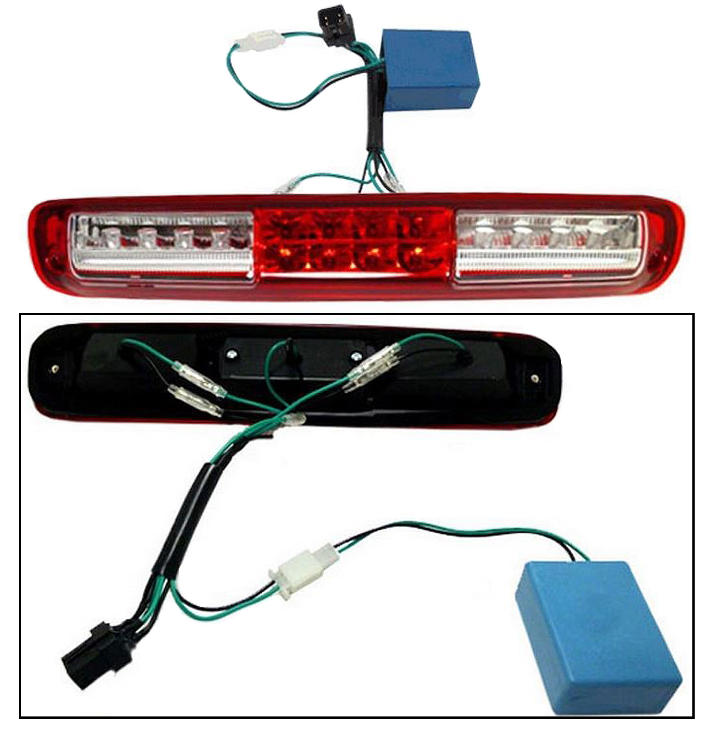 APDTY 5978318 Third 3rd High Center Mount Brake Light Lamp Assembly For 1999-2007 Chevy Silverado / 1999-2007 GMC Sierra (2007 Classic Models Only) (Upgraded LED Design)
