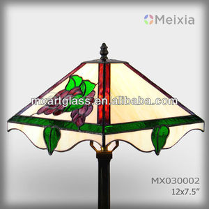MX030002 hot wholesale stained glass tiffany style lamp shape