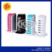 6-Port USB Adapter Desktop Quick Hub Charger Samrt Charging Power Dock Station