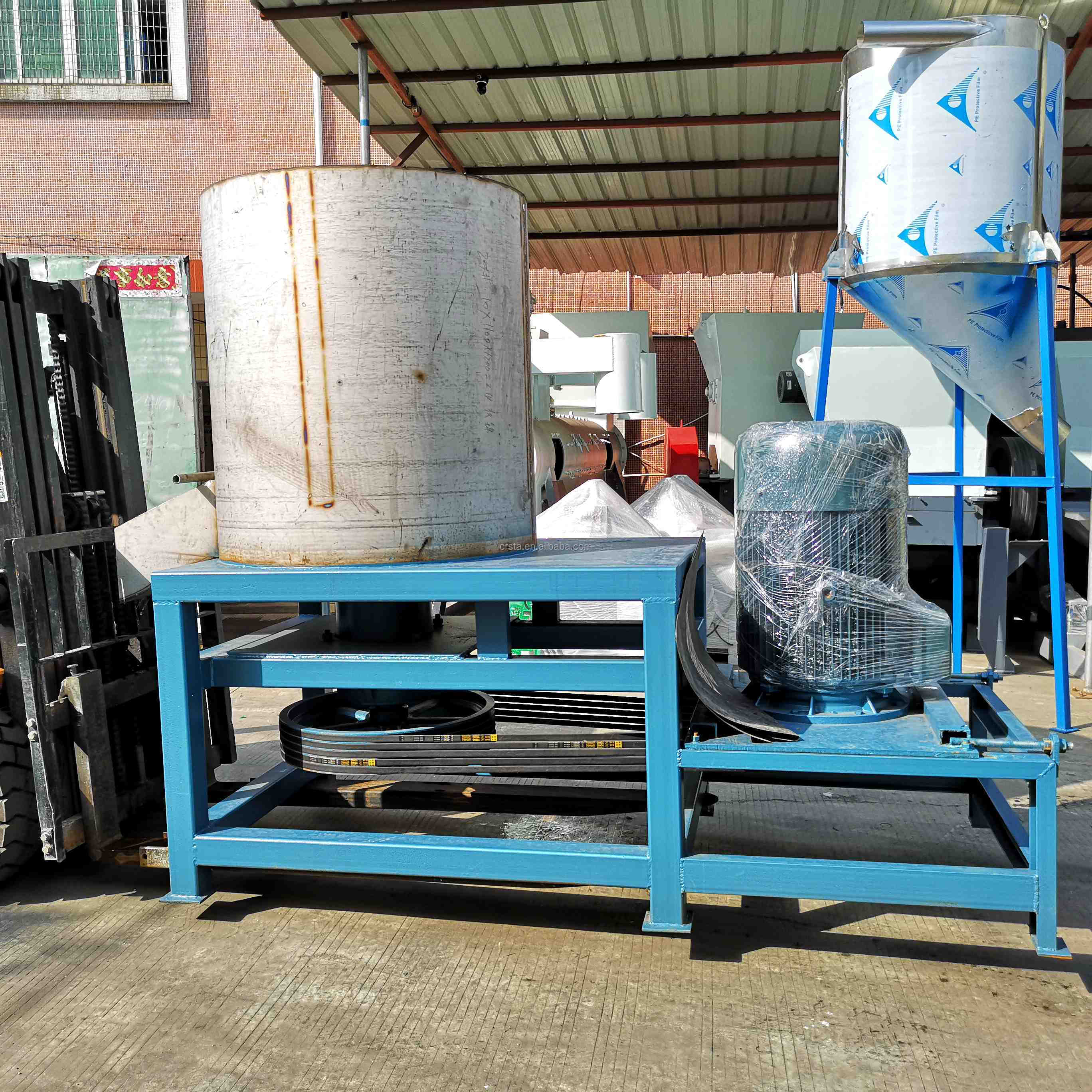 High Speed Friction Washer for Plastic PC Flakes Recycling  Plant Machine