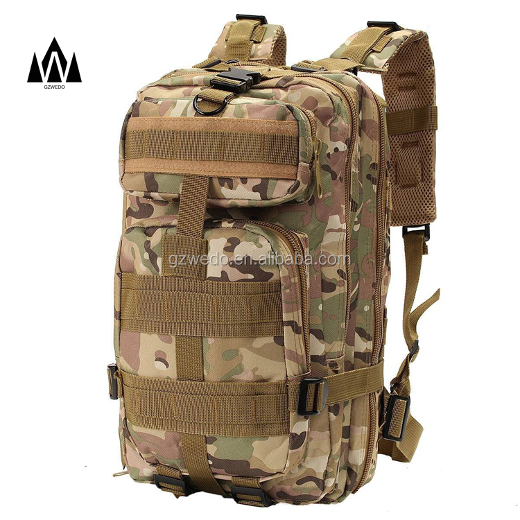 4 pc Digital Camo 600D Sac à dos Bug Out Bag Survie Militaire Tactique Jour Pack