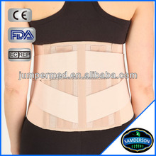 Six steel bars abdominal binder with lumbar support