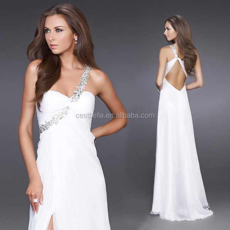 A-Line One-Shoulder Tulle Evening Dress With Beading Sequins dress