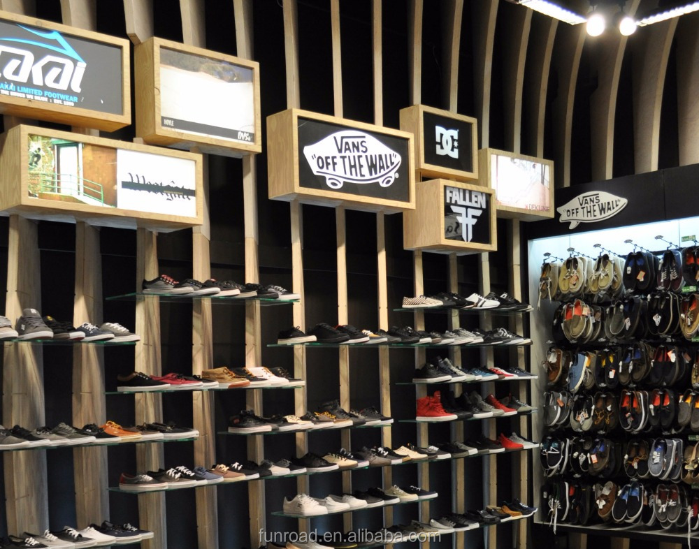 9084575d4bfb1e High End Wooden Sport Shoes Shop Interior Decoration Shoes Display Cabinet