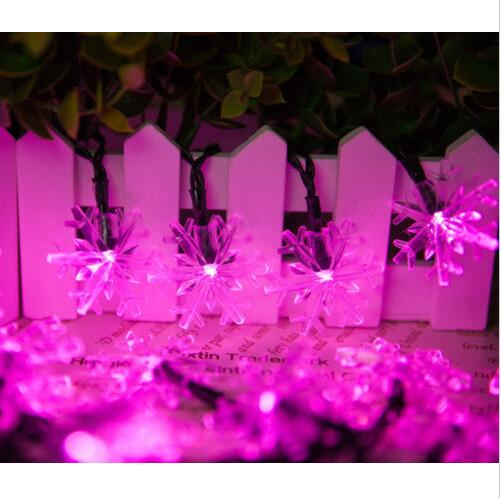snow flake solar And Holiday Decoration wireless Led String Lights /led Garland/led Fairty Lights