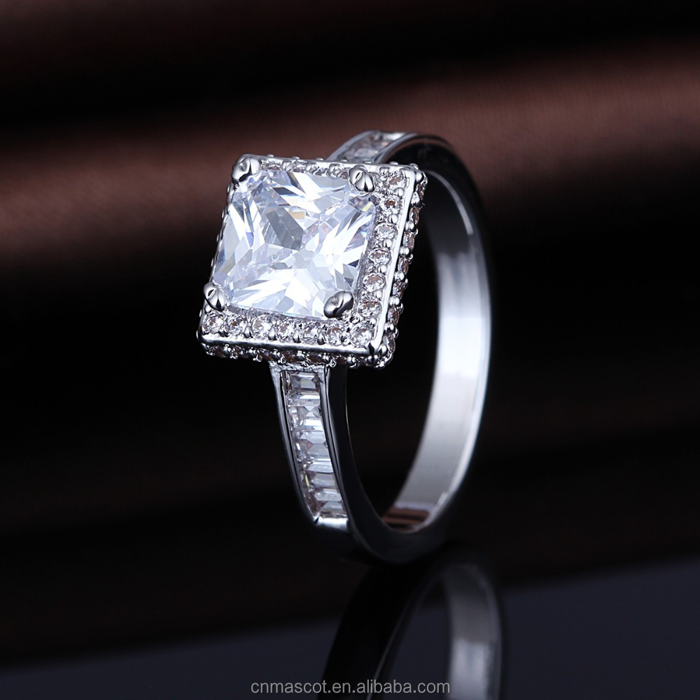 Fashion China Jewely Supplier 925 Silver CZ Ring