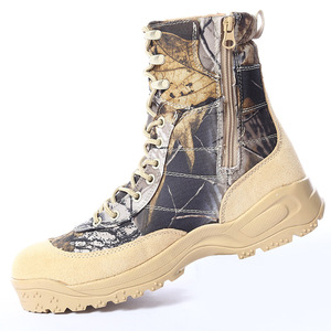 Wholesale High Quality Camo Hunting Boots Military Tactical Combat Boots