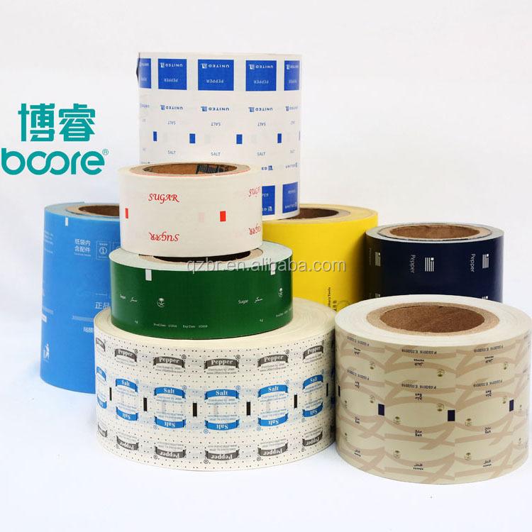 Di alta qualità di grado alimentare di zucchero bastone di carta di imballaggio PE rivestito di carta con il marchio su misura