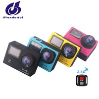 Popular Christmas Gift 1080P Action camera with dual screen and wifi ,30M waterproof sport DV in discount now
