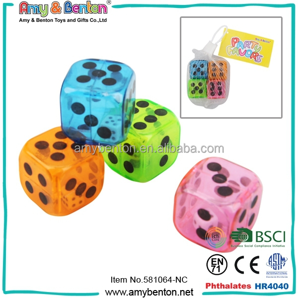 Wholesale Colorful Plastic Dice Games Dice