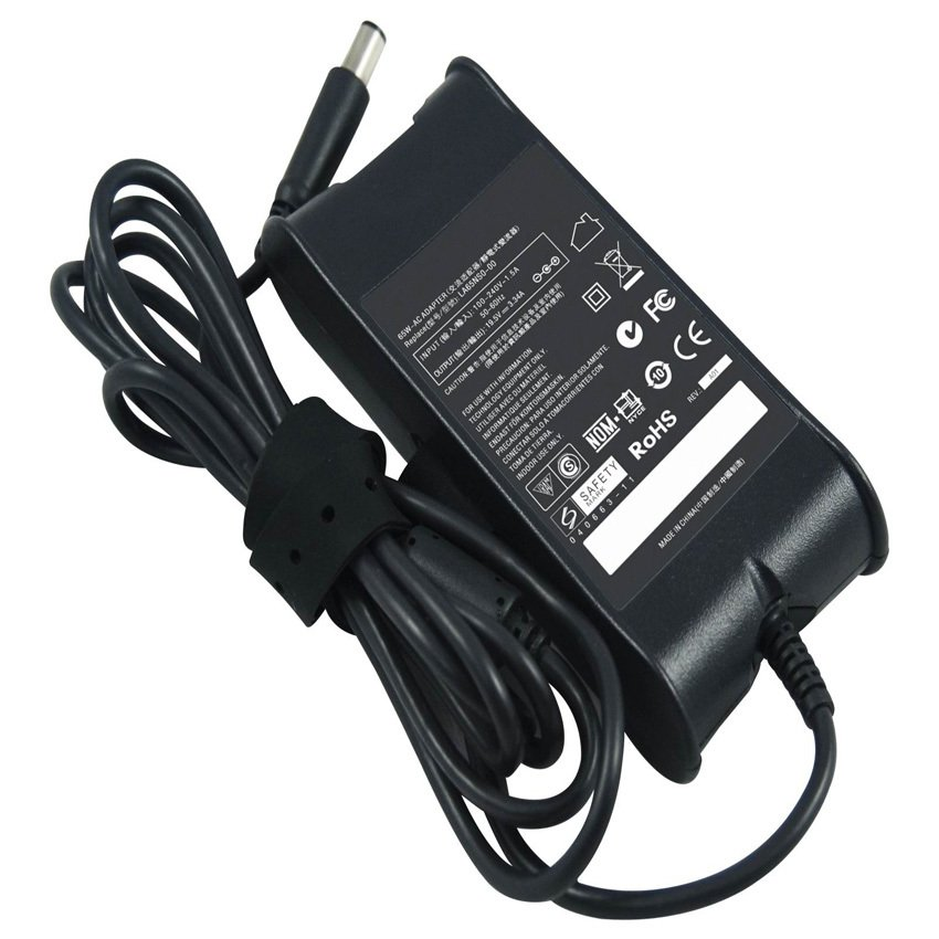 Laptop Charger For Dell 195V 334A 74mm 50mm Pin Inside Octogonal 65W Notebook AC Adapter