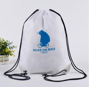 custom printing promotion plastic drawstring bag
