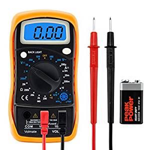 Digital Voltmeter Ammeter Ohmmeter Multimeter Volt Ac Dc Tester Meter Us Seller by Volmate