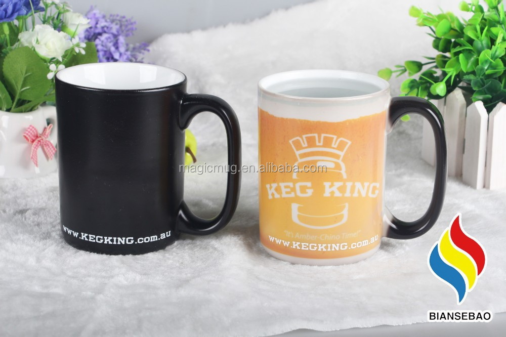 Porcelain Coffee Mug Change Color With Hot Water