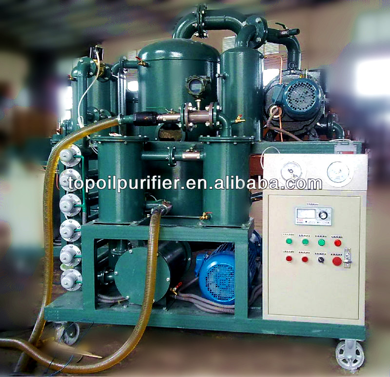 Series ZYD Double Stage Vacuum Transformer Oil Filtration Device/Waste Black Dirty Oil Cleaning Plant/Oil Purifier