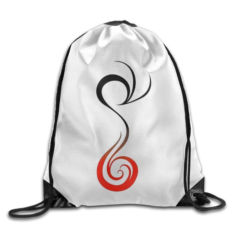Simple Phoenix Drawstring Backpack Spacious Drawstring Hiking Backpack Bags