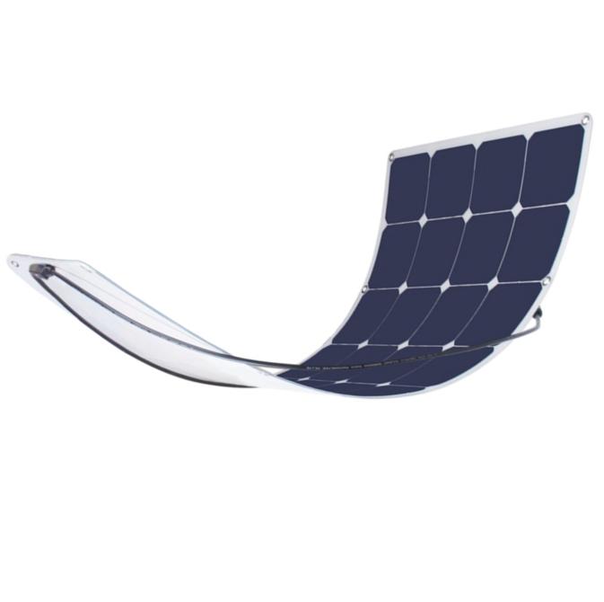 high efficiency custom sunpower 100 watt 100w etfe semi pv flexible solar panel 12v 24v