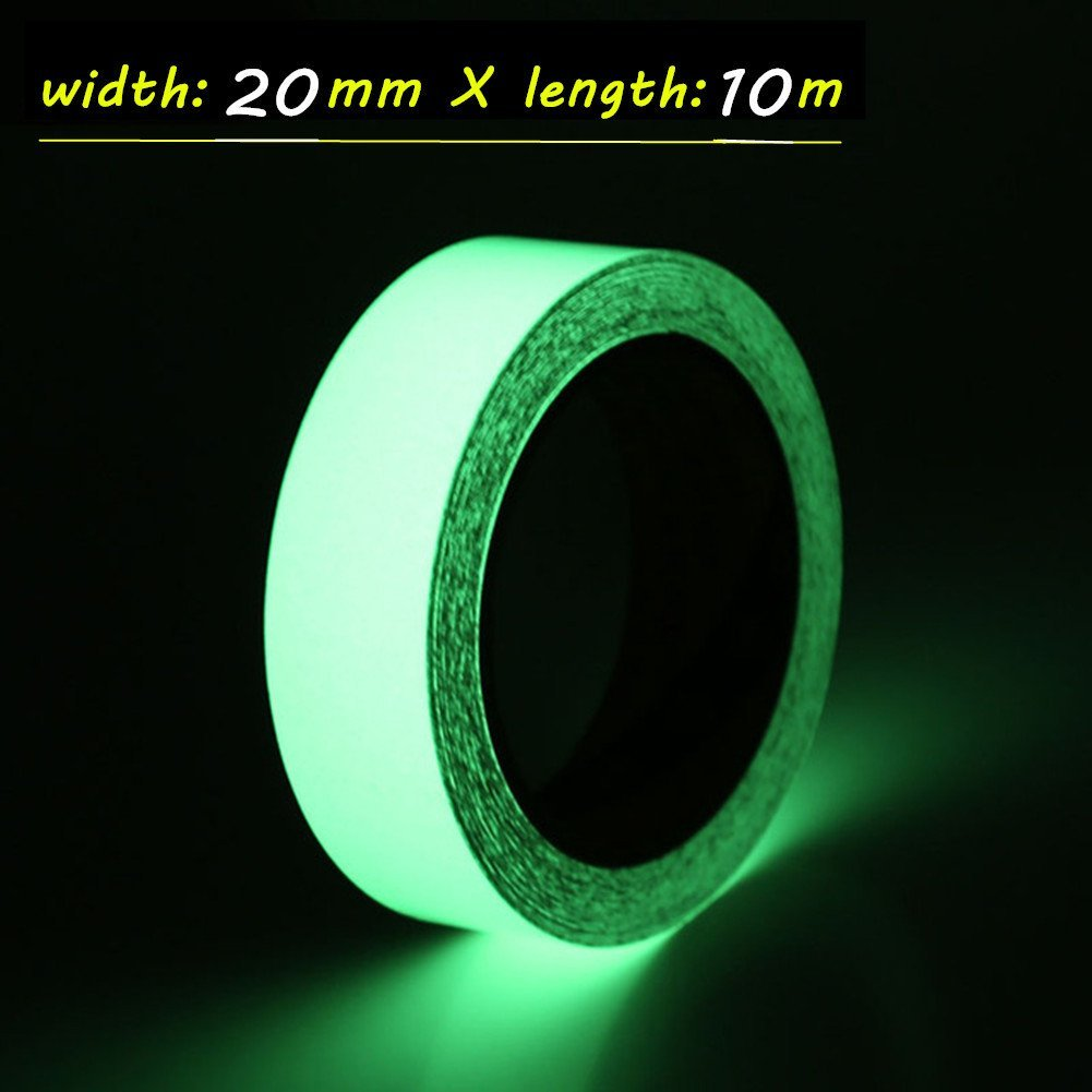 Silence Shopping Glow in The Dark Luminous Tape Sticker Silence Shopping 0.78 inch Width x 32.8 Feet Length in Luminous Photoluminescent Safety Markers Removable, Waterproof