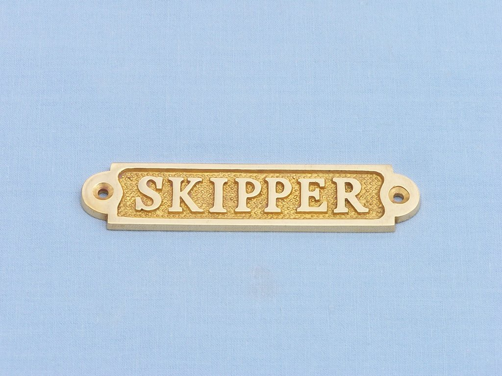 Br Skipper Sign 5 Beach Signs Sayings Decor Nautical Unique Gifts Brand New