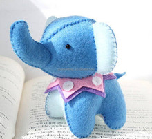 Handmade sewing felt needlework kit elephant for kids craft