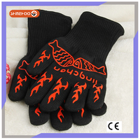 SHINEHOO Heat Insulation Oven Silicone Food Safety Work Gloves