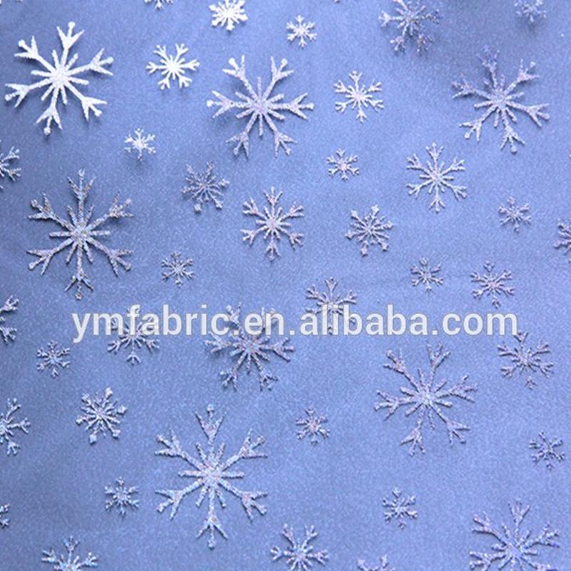 गर्म बेच नई डिजाइन क्रिसमस उपहार पारदर्शी विभिन्न पैटर्न गर्म मुद्रांकन जाल organza tulle