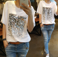 Latest ladies short sleeve t-shirt new summer Korean women blouse new tops