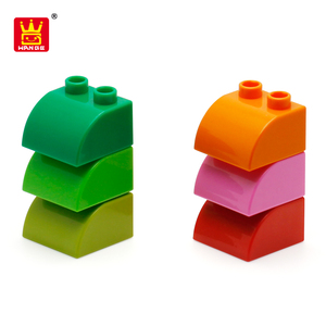 Learning Products Child Building Block Toys For Round Slope 2 Hole Block